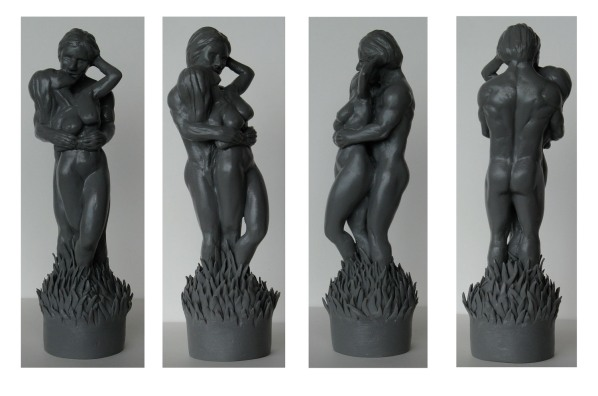 'Lovers' - mini sculpt for candle design
