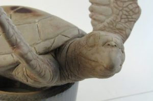 hawksbill turtle sculpture